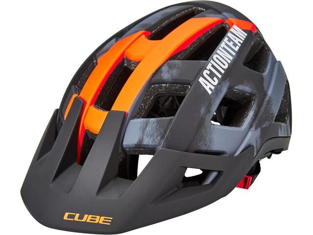 Cube Badger X Actionteam Helmet grey/orange